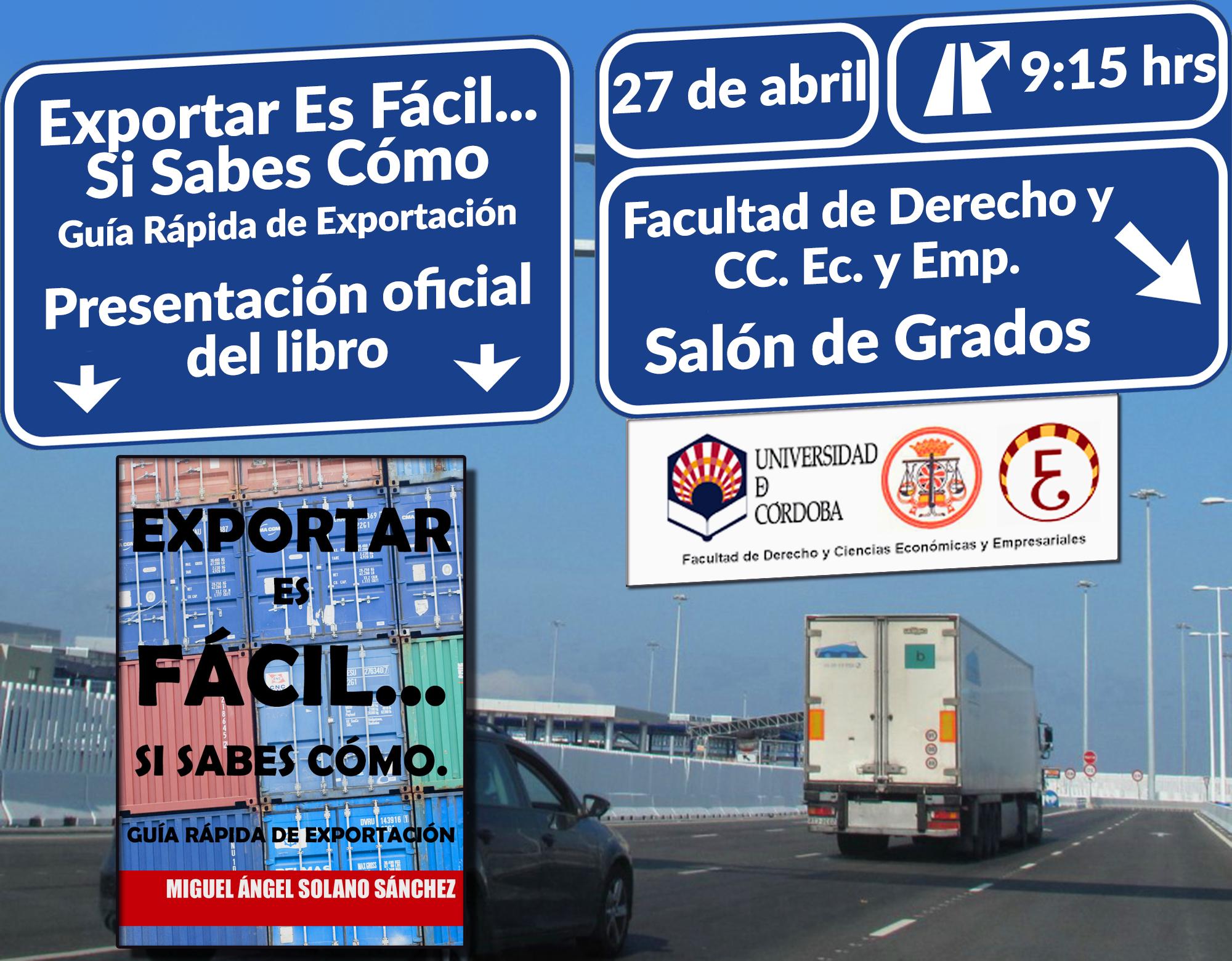 Presentación Oficial de Exportar Es Fácil Confirmada.